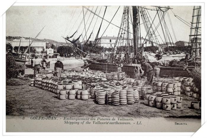 L'embarquement classique des poteries