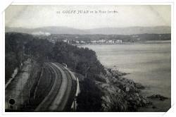 La RN7 et la voie entre GJ et Cannes