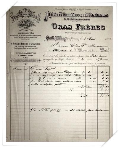 Facture GRAS Frères du 8 mars 1902
