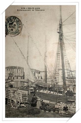 Très belle carte animée lors de l'embarquement des poteries