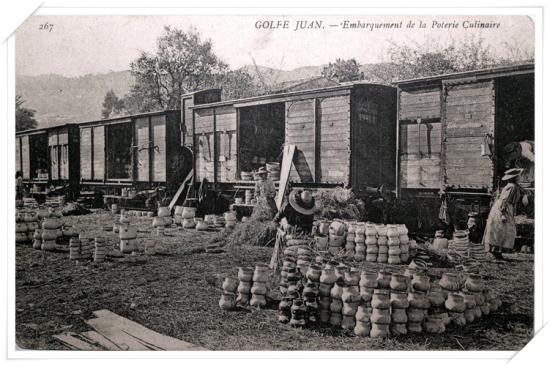 Transport de la poterie