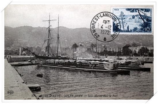 Les sous marins vus depuis le quai sud