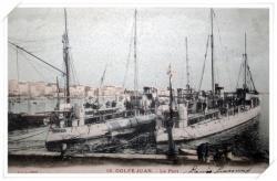 Carte colorisée de torpilleurs