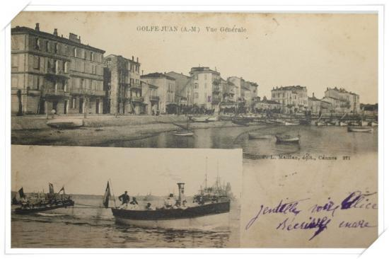 Vue sur le port et les bateaux de l'Escadre française