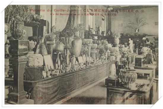 ''Show room'' de la poterie Clément Massier précisant qu'il n'a pas de sucursale ni à Cannes, ni à Nice...