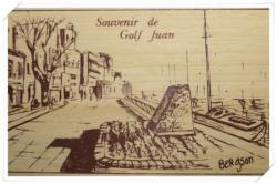 Carte postale en BALSA !